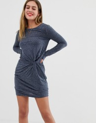 JDY Zada knot front jersey dress - Navy