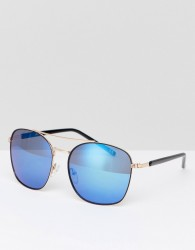 Jeepers Peepers Aviator Sunlgasses In Black/Gold - Black