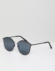 Jeepers Peepers Cat Eye Sunglasses In Black - Black