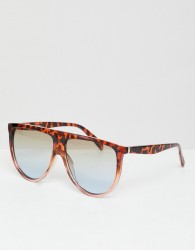 Jeepers Peepers flat top visor sunglasses with gradient lens - Brown