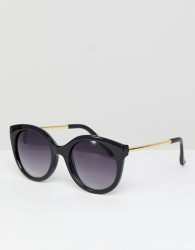 Jeepers Peepers Oversized Cat Eye Sunglasses In Black - Black