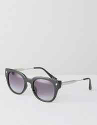 Jeepers Peepers Retro Sunglasses In Black - Black
