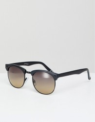 Jeepers Peepers Retro Sunglasses In Black With Gradient Lens - Black