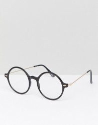 Jeepers Peepers Round Glasses In Black - Silver