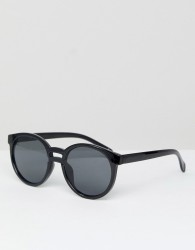 Jeepers Peepers Round Sunglasses In Black - Black