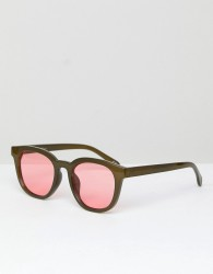 Jeepers Peepers Round Sunglasses In Green - Black