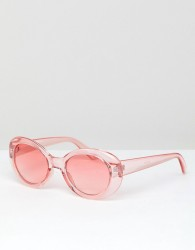 Jeepers Peepers Round Sunglasses In Pink - Pink
