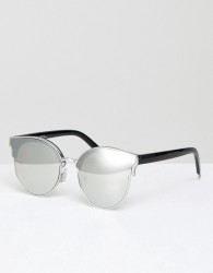 Jeepers Peepers Round Sunglasses In Silver - Silver