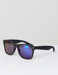 Jeepers Peepers Rubber Square Sunglasses In Black - Black