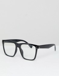 Jeepers Peepers Square Clear Lens Glasses In Black - Black