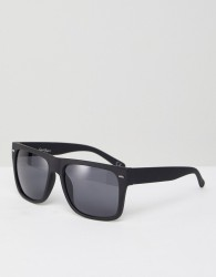 Jeepers Peepers Square Sunglasses In Black - Black