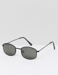 Jeepers Peepers Square Sunglasses In Black - Silver