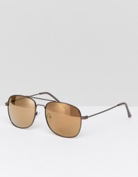 Jeepers Peepers Square Sunglasses In Silver - Silver