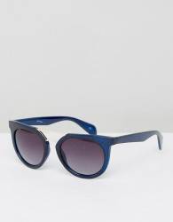 Jeepers Peepers Sunglasses With Brow Detail - Blue