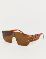 Jeepers Peepers visor sunglasses in tan - Brown
