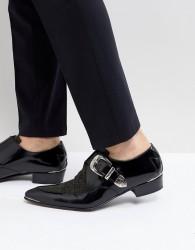 Jeffery West Adam Ant Glitter Monk Shoes - Silver