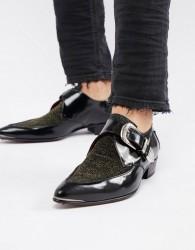 Jeffery West Adamant glitter monk shoes - Silver