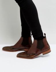 Jeffery West Capone Brogue Chelsea Boots In Tan - Tan