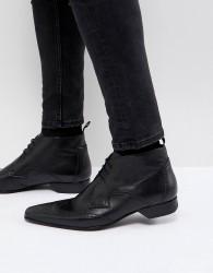 Jeffery West Escobar brogue boots in black - Black