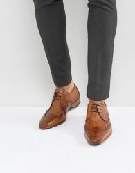 Jeffery West Escobar Brogue Shoes In Tan - Tan