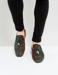 Jeffery West Jung Iridescent Loafers In Green - Green
