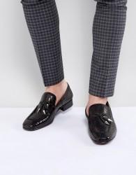 Jeffery West Jung Leather Tassel Loafers In Black - Black