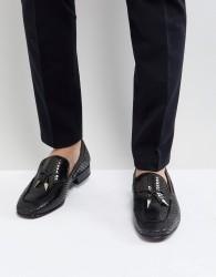 Jeffery West Jung Tassel Loafers In Black - Black