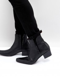 Jeffery West Murphy Chelsea Boots In Black Leather - Black