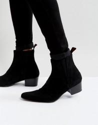 Jeffery West Murphy Chelsea Boots In Black Suede - Black