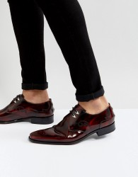 Jeffery West Scarface Lace Up Shoes In Red - Red