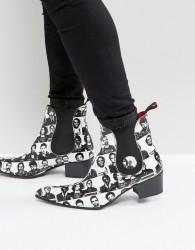 Jeffery West Sylvian Mugshot Chelsea Boots In White - White
