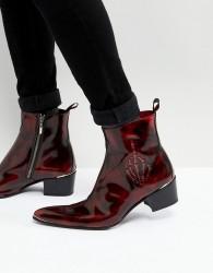 Jeffery West Sylvian Skeleton Boots - Red