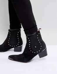 Jeffery West Sylvian Studded Chelsea Boots In Black - Black