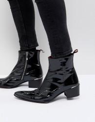 Jeffery West Sylvian studded zip boots - Black
