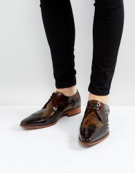 Jeffery West Yardbird Brogue Lace Up Shoes In Brown - Brown
