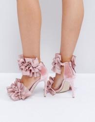 Jeffrey Cambell Tangos Blush Heeled Sandals - Beige