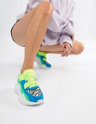 Jeffrey Campbell bright panelled chunky trainer - Multi