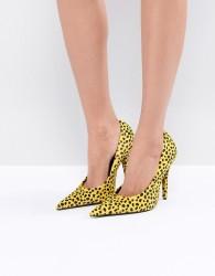 Jeffrey Campbell Ikon Yellow Jaguar Extreme Point Court Shoes - Yellow
