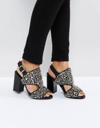 Jeffrey Campbell Starr Black Studded Heeled Sandals - Black