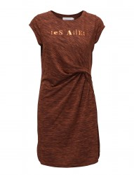 Jersey Dress W. Asymetrical Pleats