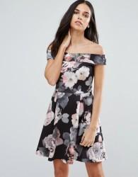 Jessica Wright Bold Floral Skater Dress - Navy