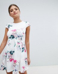 Jessica Wright Floral Skater Dress - White