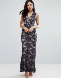 Jessica Wright Lace Fishtail Maxi Dress - Black