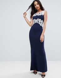 Jessica Wright Maxi Dress With Lace Inserts - Black