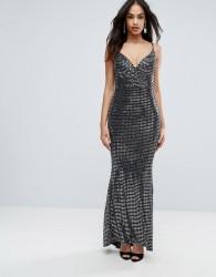 Jessica Wright Metallic Maxi Cami Dress - Silver