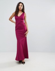 Jessica Wright Plunge Neck Maxi Dress - Red