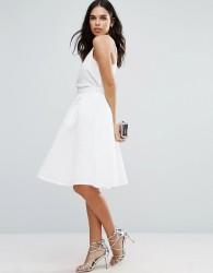 Jessica Wright Textured Prom Skirt - White