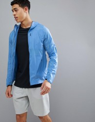 J.Lindeberg Activewear Hooded Windbreaker In Blue - Blue