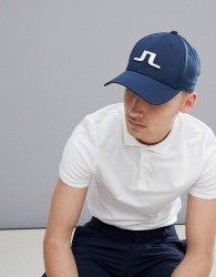 J.Lindeberg Activewear Stretch Baseball Cap in Navy - Navy