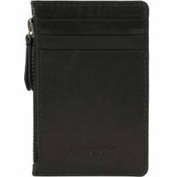 J.Lindeberg Card Zip Leather Pocket Black